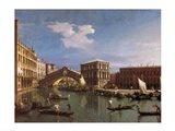 The Rialto Bridge, Venice Art Print