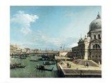The Entrance to the Grand Canal and the church of Santa Maria della Salute, Venice Art Print