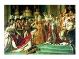 The Consecration of the Emperor Napoleon and the Coronation of the Empress Josephine Art Print