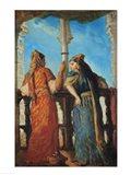 Jewish Women at the Balcony, Algiers, 1849 Art Print