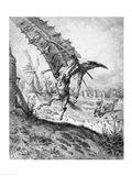 Don Quixote and the Windmills Art Print