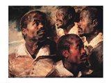 Studies of the Head of a Negro Art Print