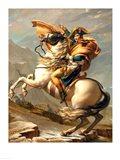 Napoleon (1769-1821) Crossing the Alps at the St Bernard Pass Art Print
