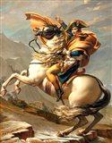 Napoleon Crossing the Alps at the St Bernard Pass Art Print