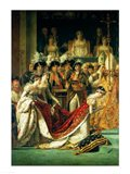 The Consecration of the Emperor Napoleon and the Coronation of the Empress Josephine, detail Art Print