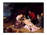 Lamentation over the Dead Christ with St. John and the Holy Women Art Print