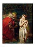 Susanna and the Elders, 1856 Art Print