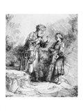 Abraham and Isaac, 1645 Art Print