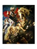 St. George and the Dragon, c.1606 Art Print
