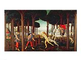 The Story of Nastagio degli Onesti: Nastagio's Vision of the Ghostly Pursuit in the Forest, 1483 or 1487 Art Print