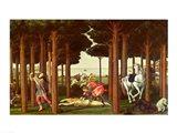 The Story of Nastagio degli Onesti: The Disembowelment of the Woman Pursued, 1483-87 Art Print