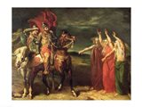 Macbeth and the Three Witches, 1855 Art Print