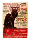Poster advertising an exhibition of the 'Collection du Chat Noir' Cabaret Art Print