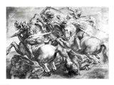 The Battle of Anghiari after Leonardo da Vinci Art Print