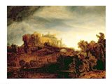 Landscape with a Chateau Art Print