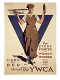For Every Fighter a Woman Worker YWCA Art Print