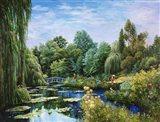 Monet Garden I Art Print