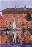 Sailboats On The Canal Art Print