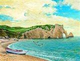 The Beach At Etreta Art Print