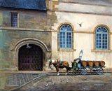 Wine Cart Art Print