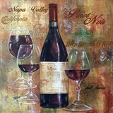 Napa Valley Pinot Lettered Art Print