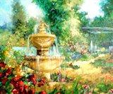 The Garden Fountain Art Print