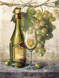 Vin Blanc Elegant Art Print