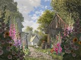The Garden Cottage Art Print