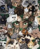 Jade Eyes Art Print