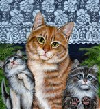 Window Kitties Art Print