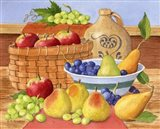 Apples, Grapes & Pears Art Print