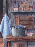 Blueberries And Pint Boxes Art Print