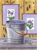Blueberries And Violets Art Print