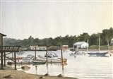 Boats At Low Tide Art Print