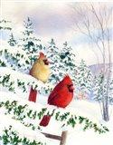 Cedar Farms Cardinals I Art Print