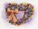 Dried Flower Wreath Art Print