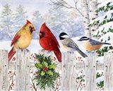 Fence Friends Art Print
