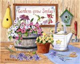 Gardens Grow Smiles Art Print