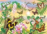 Butterflies Up IN The Canopy Art Print