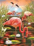 Flamingos-Vertical Art Print