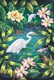 River Egret Art Print