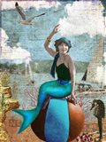 Beach Mermaid Art Print