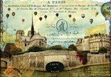 Notre Dame Balloons Art Print
