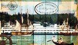 Tall Ships On The Sound Art Print