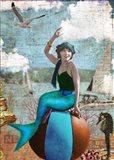 Beach Ball Mermaid Art Print