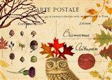 Bienvenue Autumn Art Print