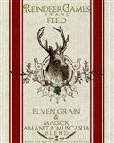 Reindeer Feedsack Art Print
