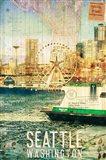 Seattle Ferry Dock Art Print