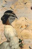 Sparrow Lady Art Print