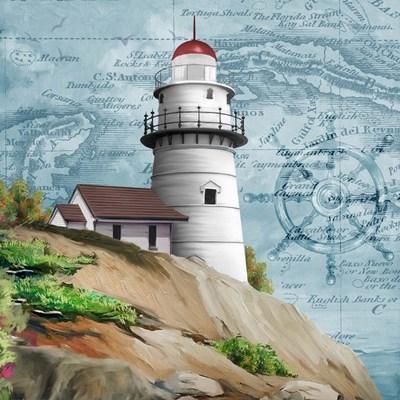 Lighthouse V Art Print by Wood